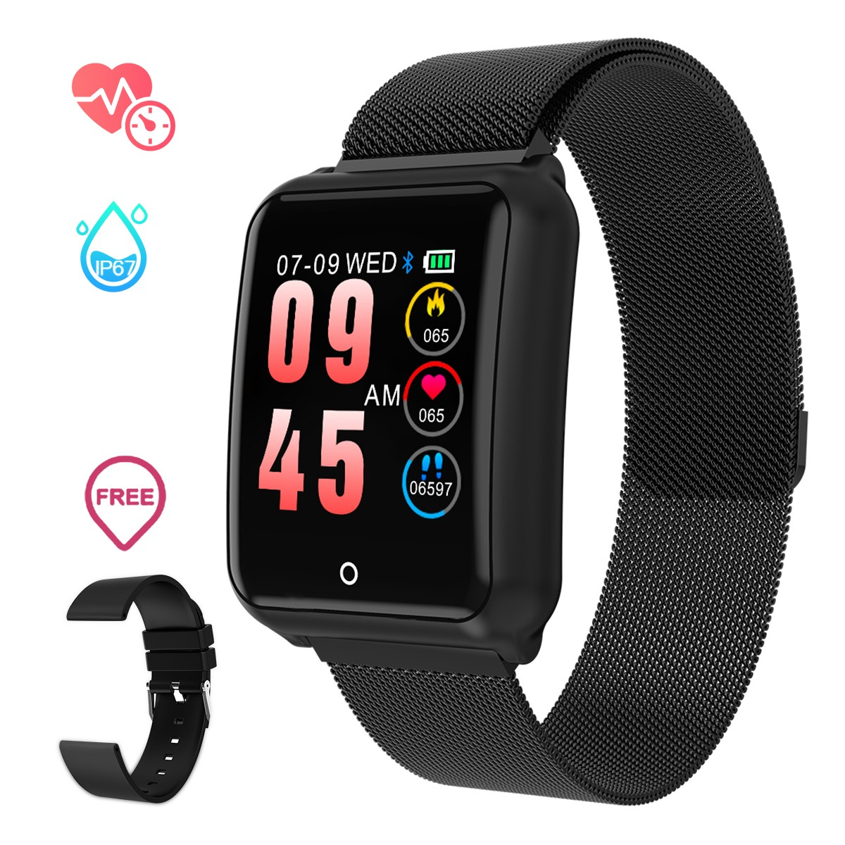 Lover's Watches Smart Watch Women Men Heart Rate Blood Pressure Monitor Sport Fitness Tracker Smart Wristband Electronics Watch For Android Ios
